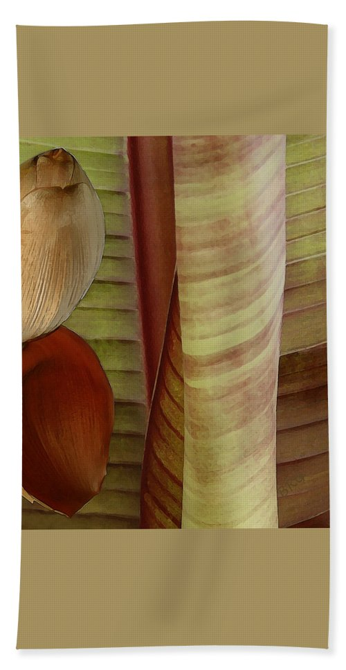 Abstract Bath Sheet featuring the photograph Banana Composition II by Ben and Raisa Gertsberg