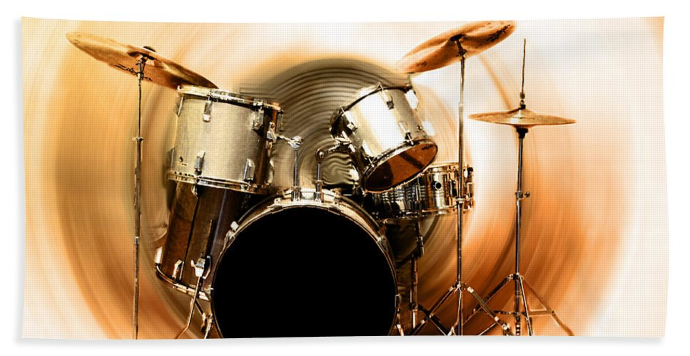 Bang Bath Sheet featuring the photograph Bang On The Drum All Day by Bill Cannon