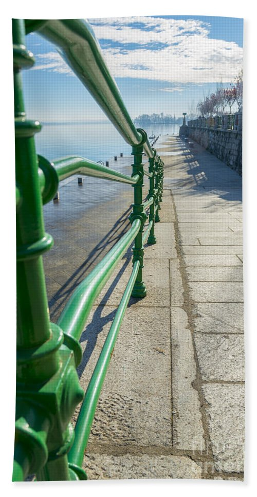Walkway Hand Towel featuring the photograph Banister by Mats Silvan