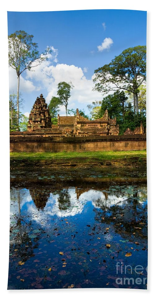 Ancient Hand Towel featuring the photograph Banteay Srei - Angkor Wat - Cambodia by Luciano Mortula