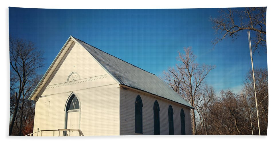 Church Hand Towel featuring the photograph Baptist Church by Angie Harris