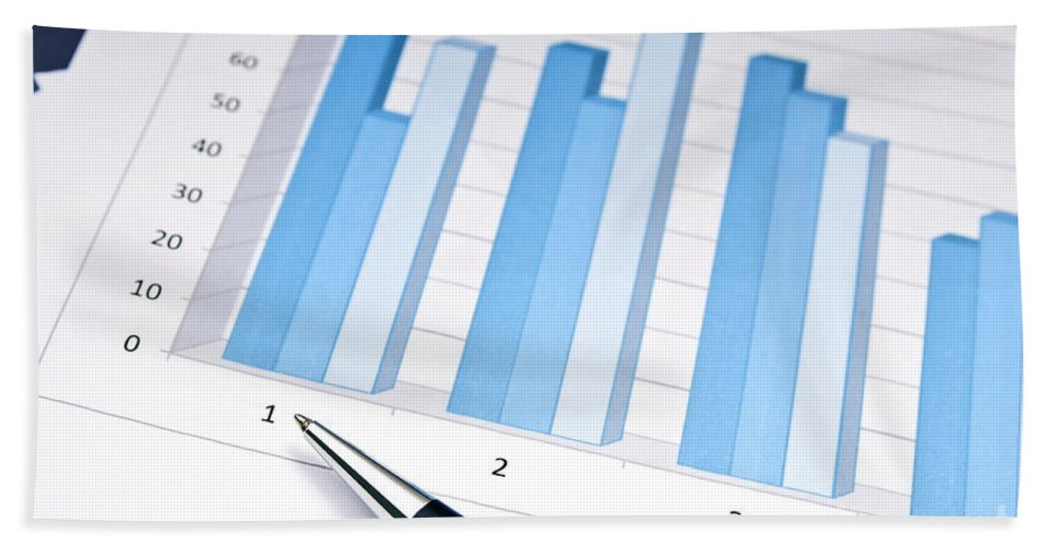 Accounting Bath Sheet featuring the photograph Bar Chart by Tim Hester