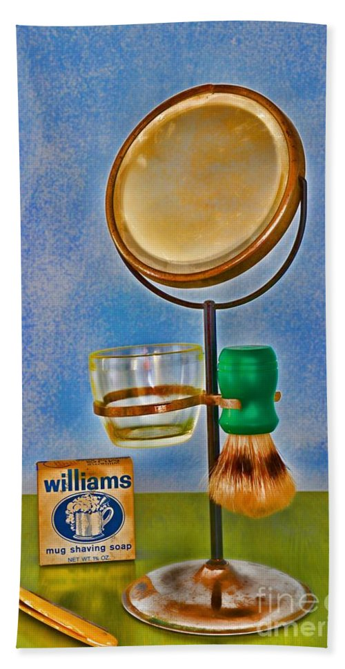 Paul Ward Hand Towel featuring the photograph Barber - The Shaving Mirror by Paul Ward