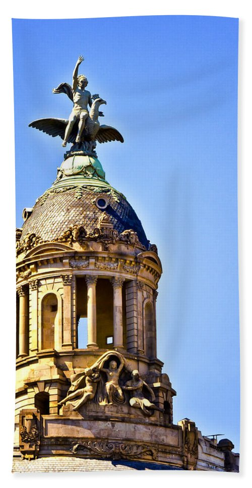 Barcelona Bath Sheet featuring the photograph Barcelona Dome by Jon Berghoff