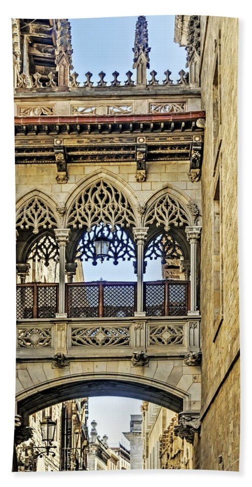 City Bath Sheet featuring the photograph Barcelona by Maria Coulson