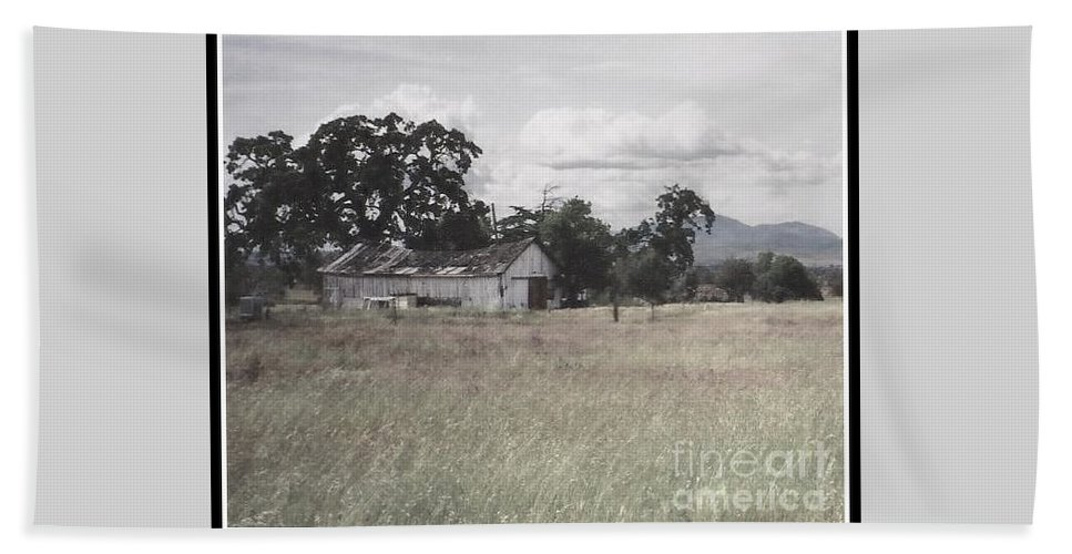 Barn Bath Sheet featuring the photograph Barn In Black N White by Bobbee Rickard
