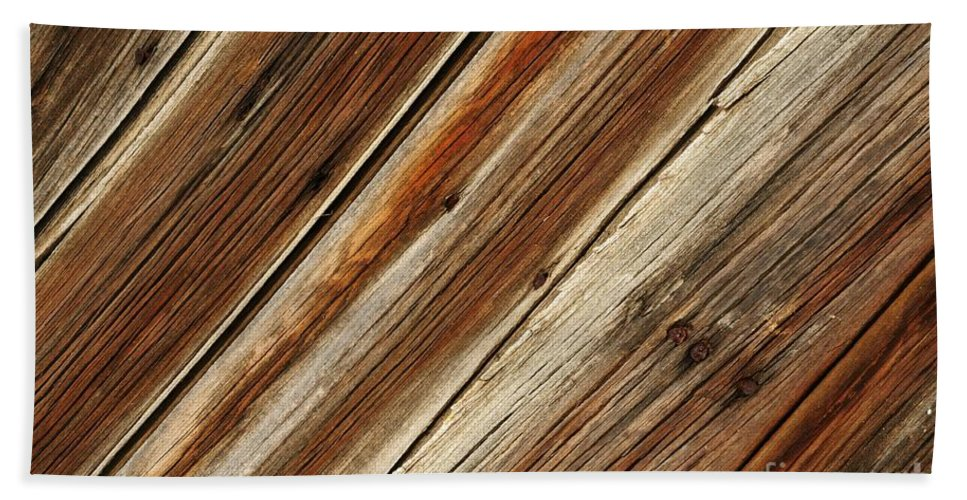 Barn Hand Towel featuring the photograph Barn Wood Detail by Vivian Christopher
