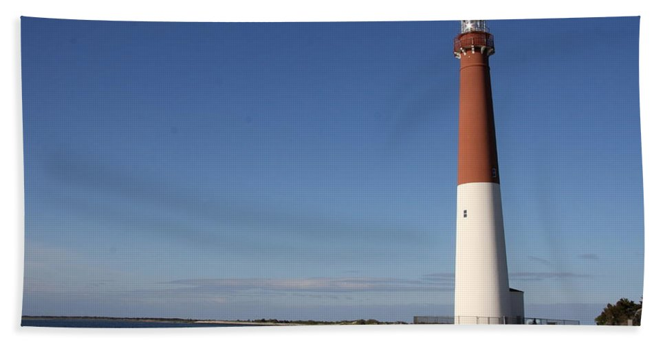 Barnegat Lighthouse Bath Sheet featuring the photograph Barnegat Inlet And Light by Christiane Schulze Art And Photography