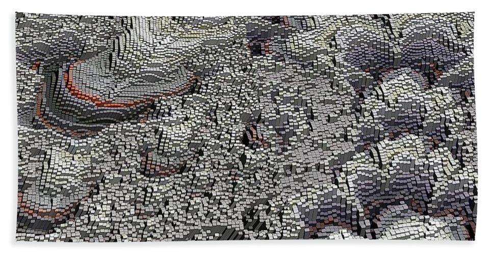 Basalt Hand Towel featuring the digital art Basalt Topography by Ron Bissett