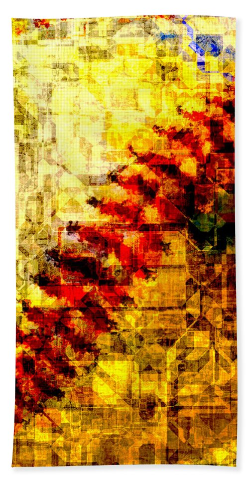 Baseball Hand Towel featuring the mixed media Baseball Impression by Eric Rasmussen