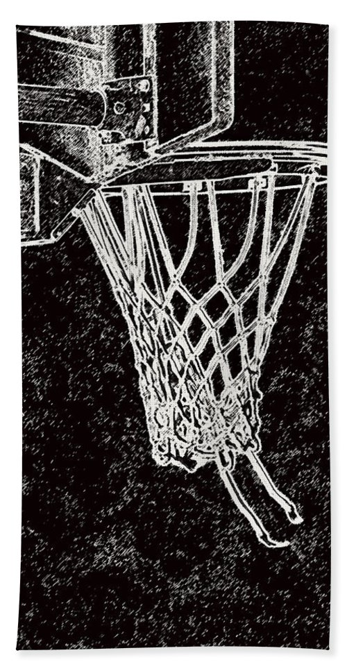 Sports Bath Sheet featuring the photograph Basketball Years by Karol Livote