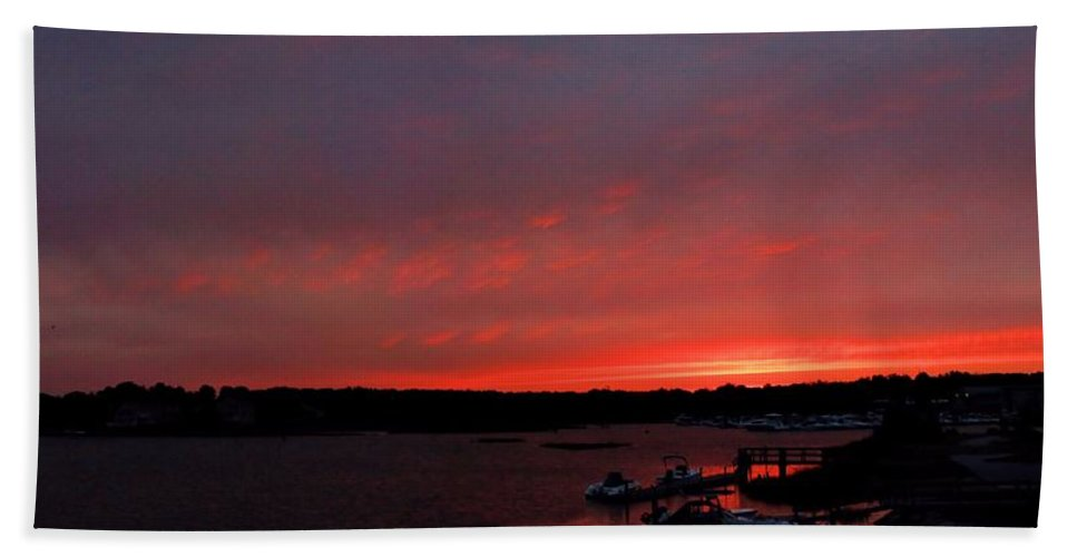 Bass River Bath Sheet featuring the photograph Bass River Sunrise by Robert McCulloch