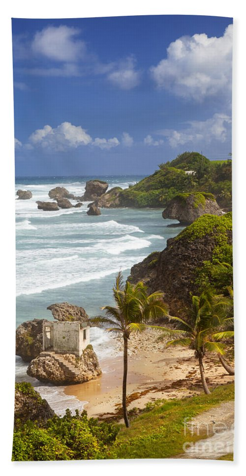 Barbados Hand Towel featuring the photograph Bathsheba Beach by Brian Jannsen