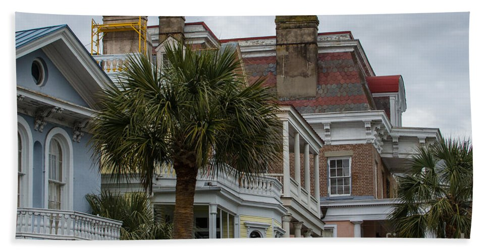 Charleston Bath Sheet featuring the photograph Battery Sky Line by Dale Powell