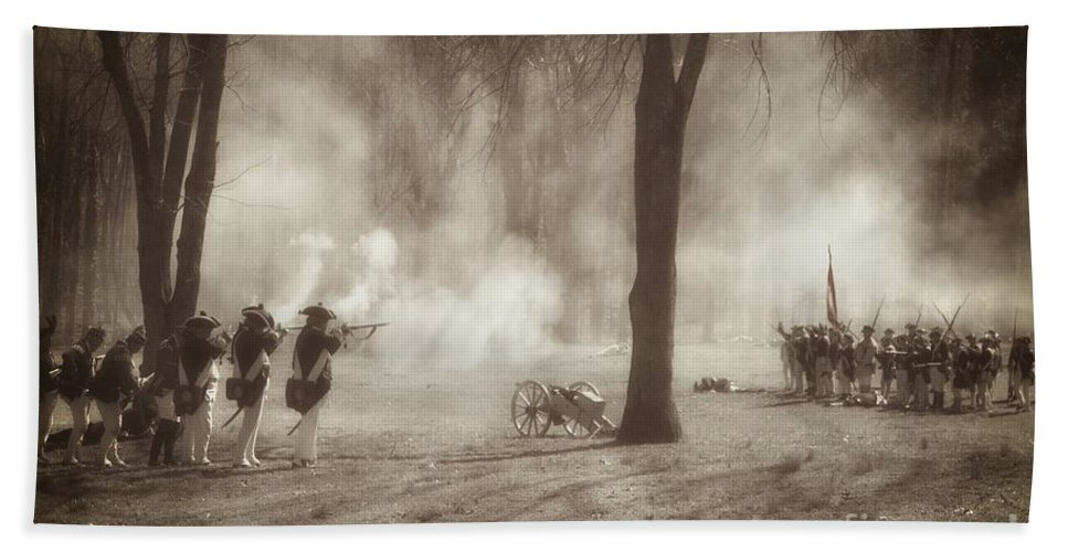 Revolutionary War Hand Towel featuring the photograph Battle Of Guilford Court House by Benanne Stiens