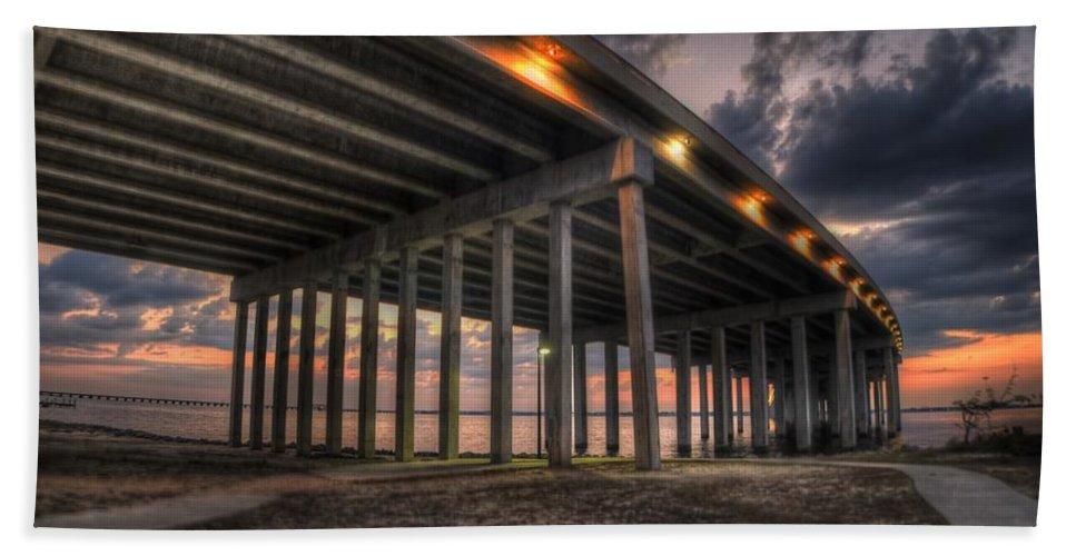Bridge Bath Sheet featuring the photograph Bay Bridge Sunset 2 by Beth Gates-Sully