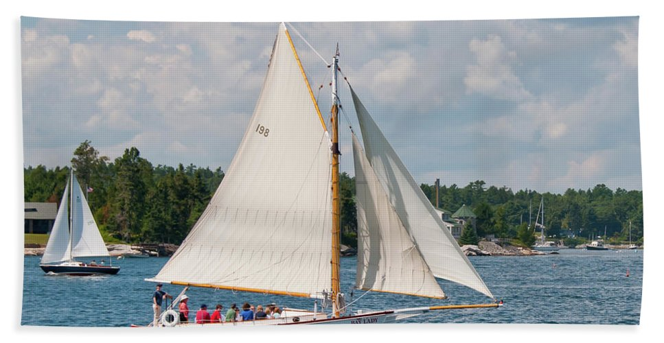 Boat Hand Towel featuring the photograph Bay Lady 1270 by Guy Whiteley