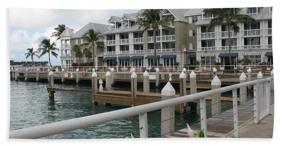 Bayfornt Hand Towel featuring the photograph Bayfront Key West II by Christiane Schulze Art And Photography