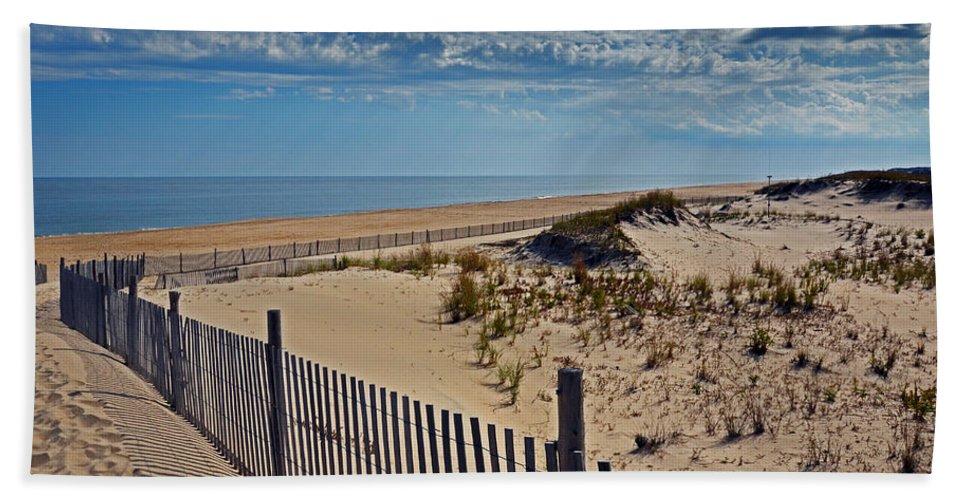 Beach Bath Sheet featuring the photograph Beach At Cape Henlopen by Bill Swartwout Fine Art Photography