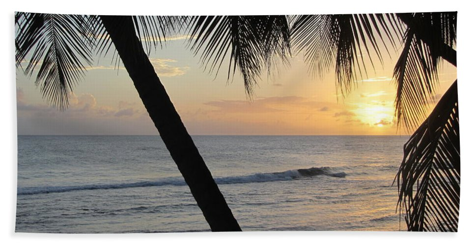 Beach Bath Sheet featuring the photograph Beach At Sunset 2 by Anita Burgermeister