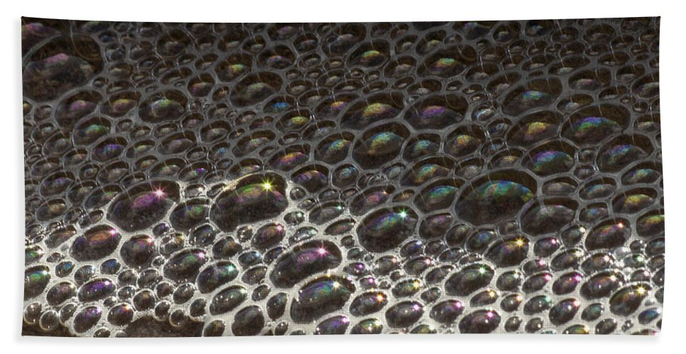 Bubbles Bath Sheet featuring the photograph Beach Bubble Reflections by Darleen Stry