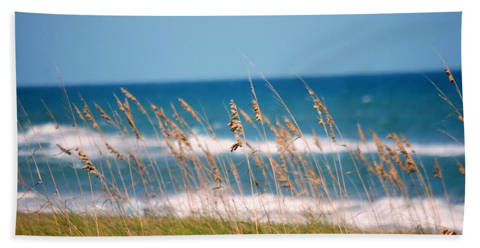 Beach Hand Towel featuring the photograph Beach Front 001 by Larry Ward