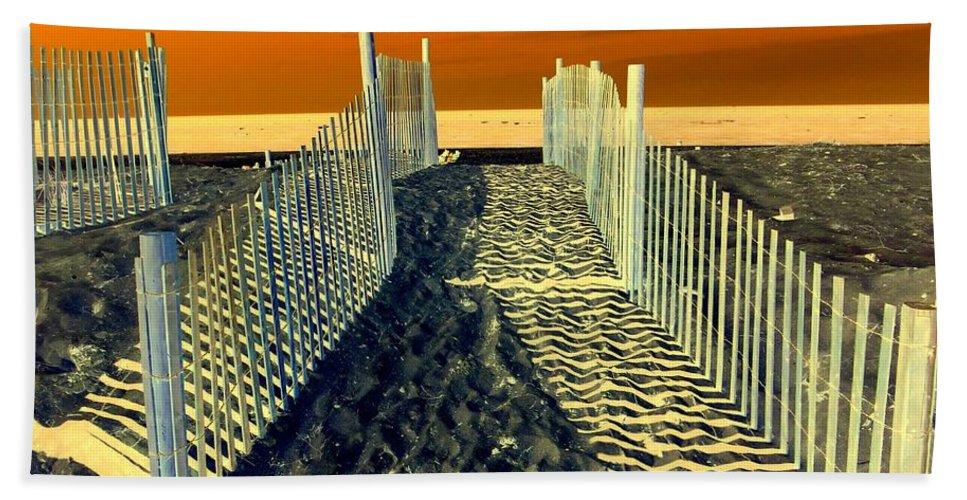 Beach Bath Sheet featuring the photograph Beach Path by Ed Weidman