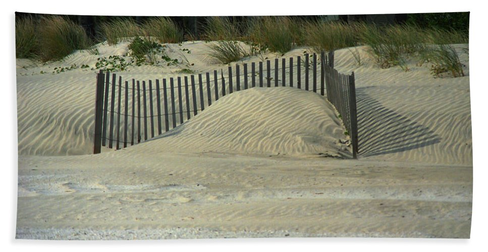 Art Bath Sheet featuring the photograph Beach Sand Dunes by Frank Romeo