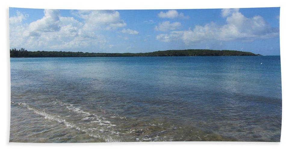 Beach Bath Sheet featuring the photograph Beach Waves Wide by Anita Burgermeister