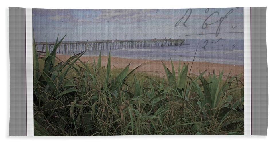 Beach Hand Towel featuring the photograph Beach Writing by Alice Gipson