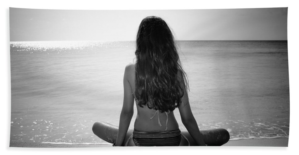 Antigua And Barbuda Bath Sheet featuring the photograph Beach Yoga by Ferry Zievinger