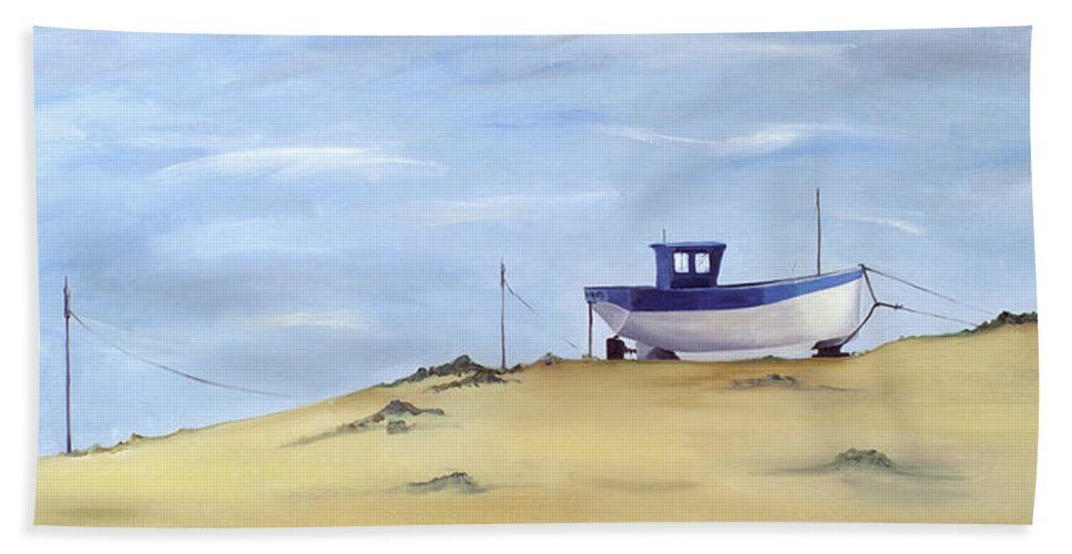 Beach Scenes Bath Towel featuring the painting Beached by Ana Bianchi