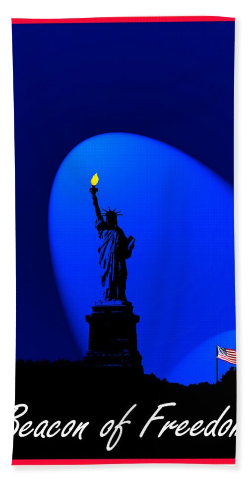 David Lawson Photography Hand Towel featuring the photograph Beacon Of Freedom by David Lawson