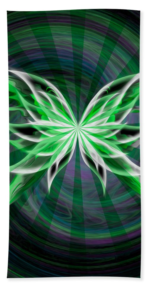 Butterfly Hand Towel featuring the digital art Beams Of Envy by Teri Schuster