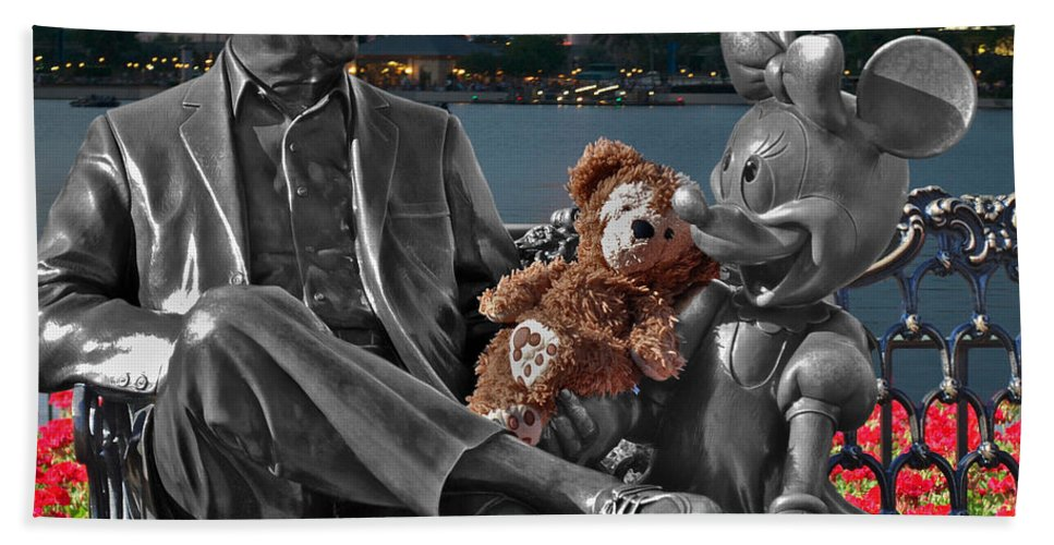 Fantasy Bath Sheet featuring the photograph Bear And His Mentors Walt Disney World 05 by Thomas Woolworth