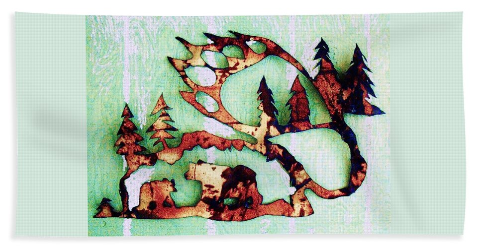 Bear Track Hand Towel featuring the photograph Bear Track 11 by Larry Campbell