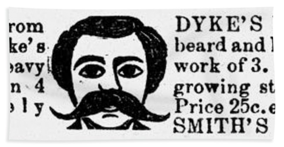 1889 Bath Sheet featuring the photograph Beard Elixir Ad, 1889 by Granger
