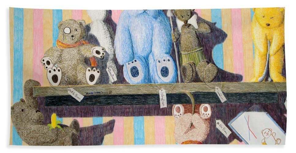 Still Life Hand Towel featuring the painting Bearly There by A Robert Malcom