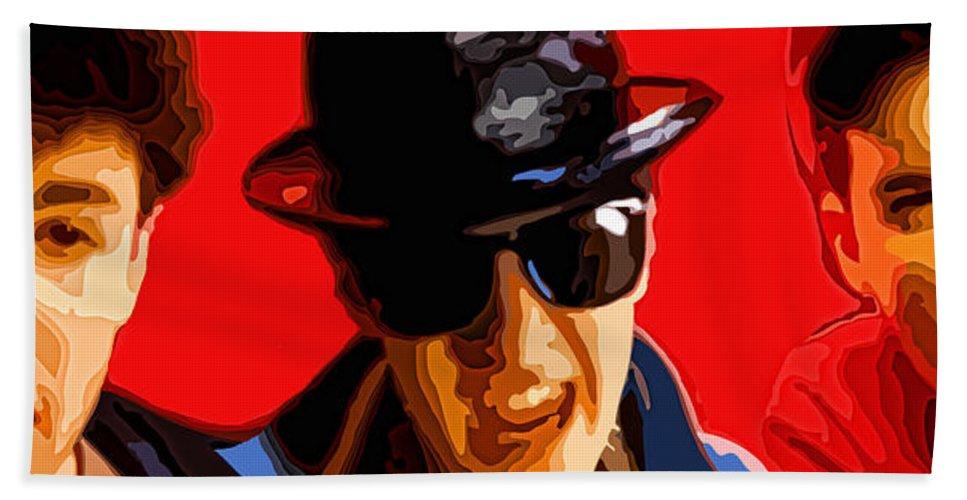 Mc Hand Towel featuring the digital art Beastie Boys by Gordon Dean II