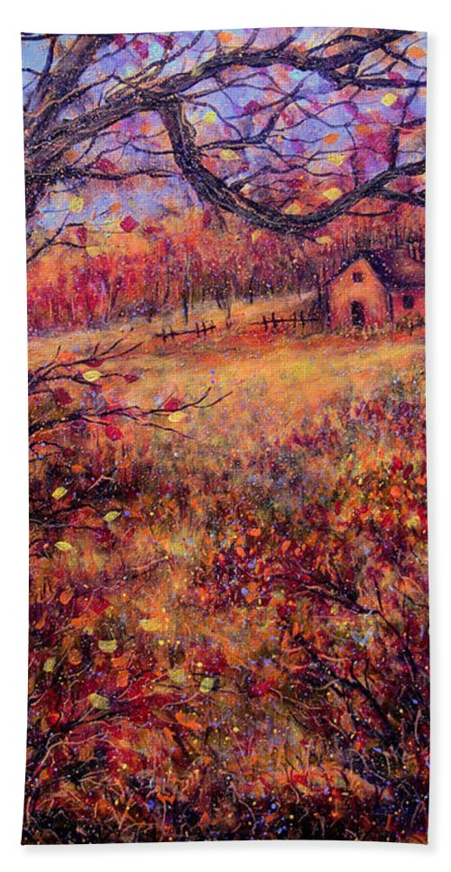 Autumn Hand Towel featuring the painting Beautiful Autumn by Natalie Holland