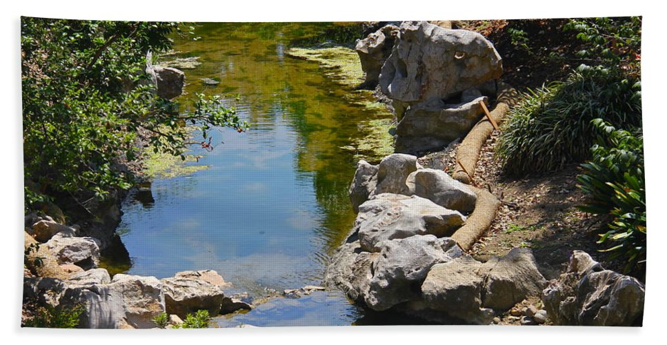 Rock Hand Towel featuring the photograph Beautiful Brook by Denise Mazzocco