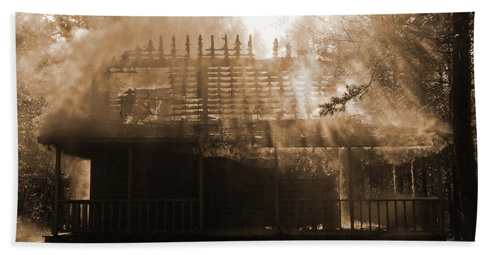 Lost Hand Towel featuring the photograph Beautiful Disaster by Julia Raddatz