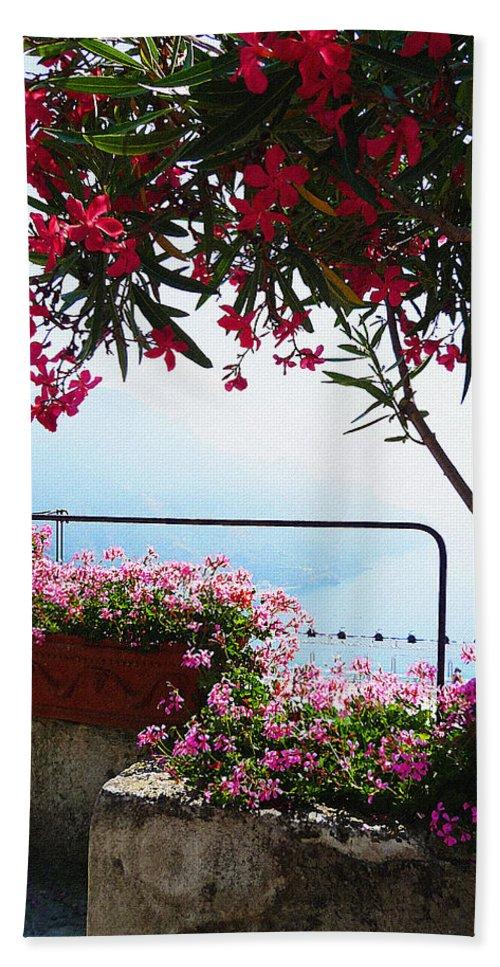 Italy Hand Towel featuring the photograph Beautiful Flowers Of Ravello Italy by Irina Sztukowski