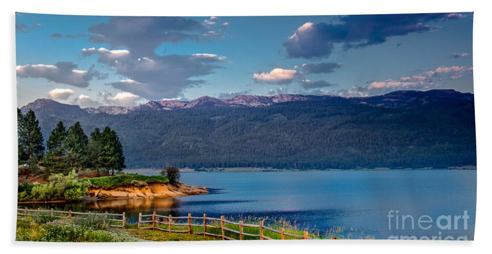 Idaho Hand Towel featuring the photograph Beautiful Lake View by Robert Bales