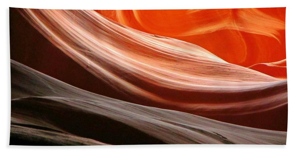 Beautiful Canyons Hand Towel featuring the photograph Beautiful Sandstone Layers by John Malone