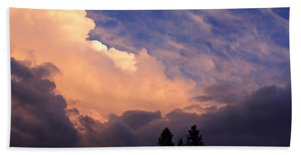 Clouds Hand Towel featuring the photograph Beautiful Sky by Ingrid Smith-Johnsen