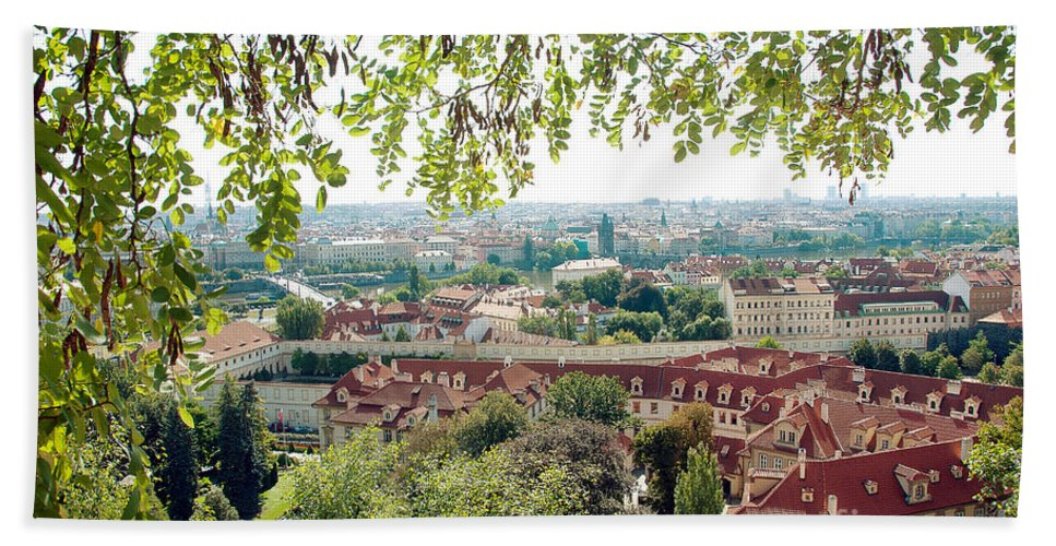 Photography Bath Sheet featuring the photograph Beautiful View Of Prague by Ivy Ho