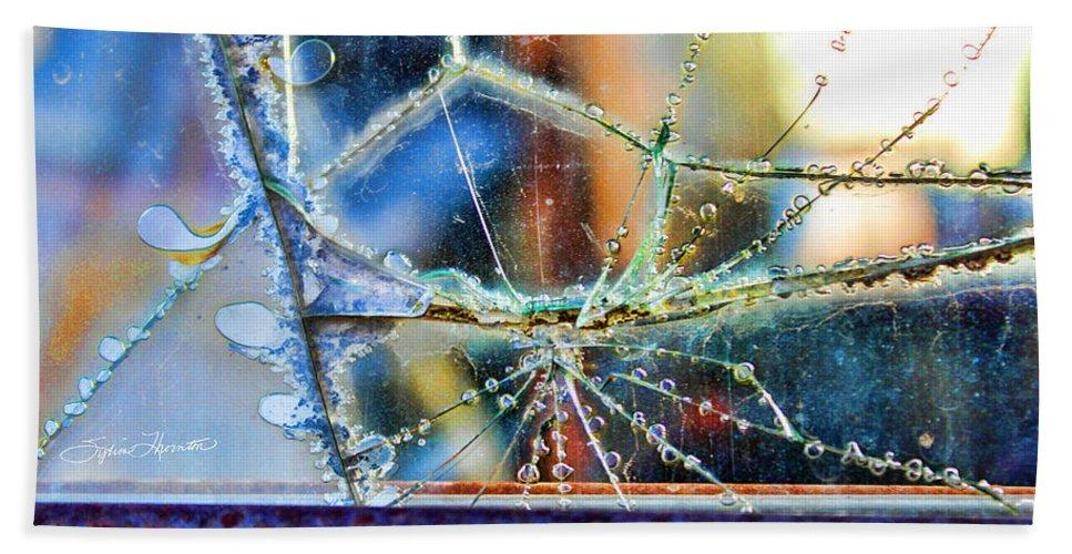 Abstract Art Bath Sheet featuring the photograph Beautifully Broken by Sylvia Thornton