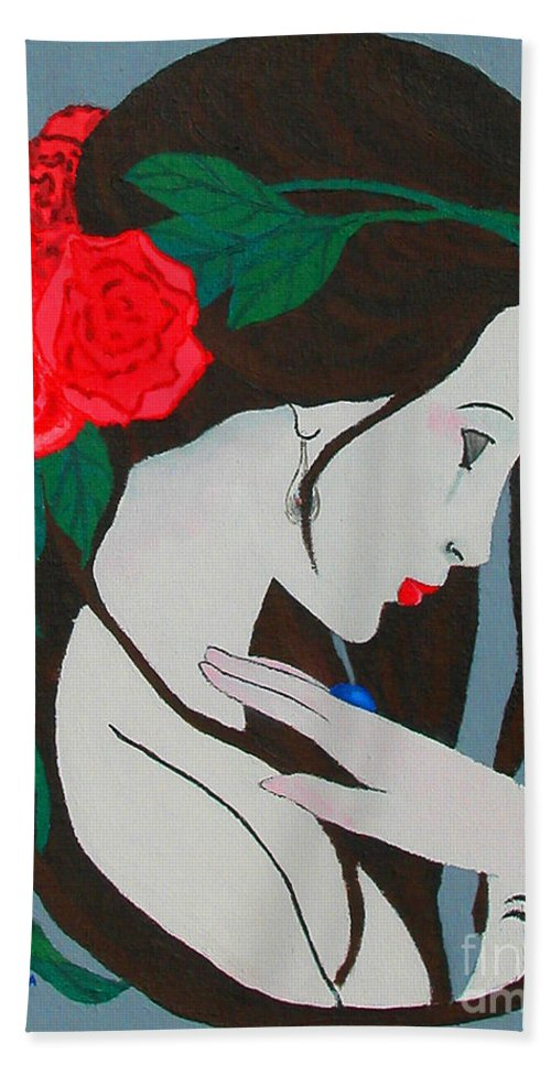 Beauty Hand Towel featuring the Beauty by Alys Caviness-Gober