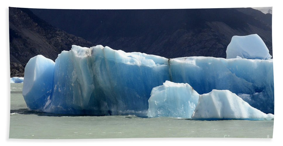 Patagonia Hand Towel featuring the photograph Beauty Of Icebergs Patagonia 6 by Bob Christopher